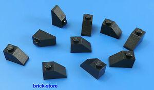 6047276 Lego Dachstein gebogen 2 x 1 Schwarz 10 Stück