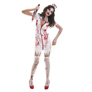c51cfdb91fb3e Image is loading Halloween-Blood-Splattered-Rugged-Zombie-Nurse-Costume -Womens-