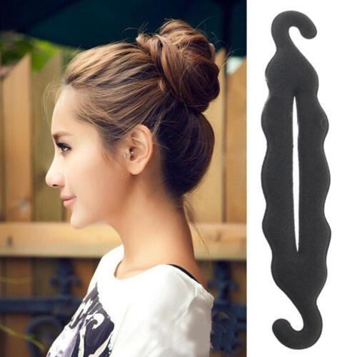 Magic Sponge Foam Clip Style Hair Donut Bun Curler Maker Ring Twist best*