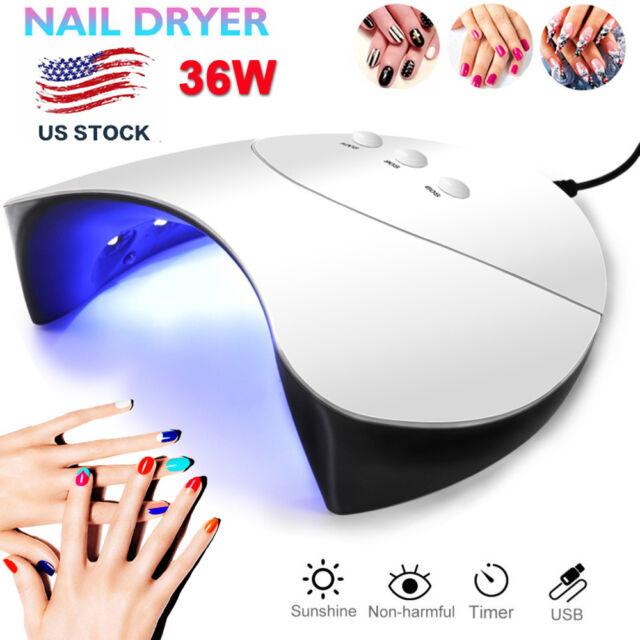 Buy UV Nail Polish Dryer Lamp 36w GEL Acrylic Curing LED Light Spa ...