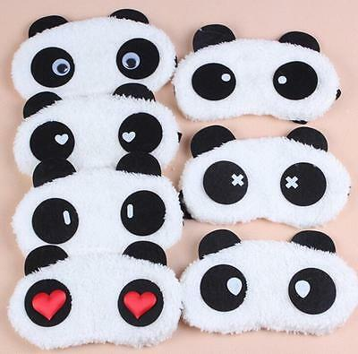 2016New Panda Face Eye Travel Sleep Lightproof Mask Blindfold Portable Nap Cover