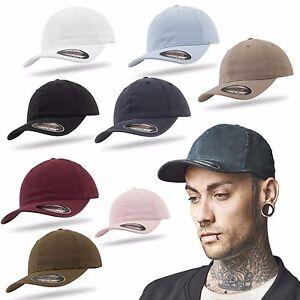 f97e859771b Das Bild wird geladen Flexfit-Cap-Garment-Washed-Cotton-Dad-Hat-Vintage-
