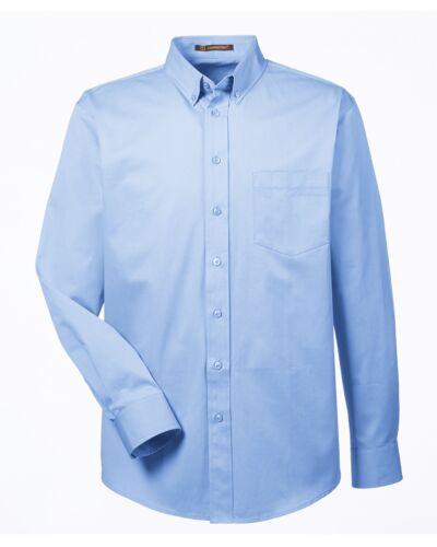 Harriton Men/'s 100/% Cotton Long-Sleeve Teflon Coated Oxford Twill Shirt S-6XL