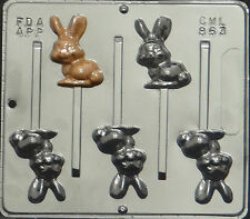 Bunny Lollipop Chocolate Candy Mold Easter  863 NEW