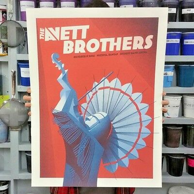 THE AVETT BROTHERS concert tour poster print SN/NUMBERED Wichita, KS 10-08-2016