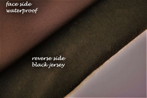 WATER PROOF PLUMB COLOUR LUXURY COTTON BLEND THERMAL FABRIC MADE IN ITALY D83