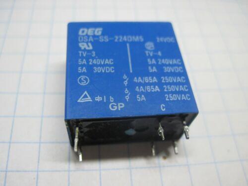212,224 12VDC OEG Relay OSA-SS,SDT-SS 24VDC See list Tested OST-S,GSA 112