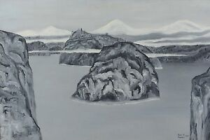 Ken-Kirkby-Oil-Painting-Winter-Landscape-Canadian-Listed-Artist-1968-24x36-034