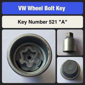 Genuine-VW-Locking-Wheel-Bolt-Nut-Key-521-034-A-034