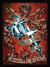 Tattoo UL13 Ink, Metal Tattoo Gun, Immortal Style, Large Metal/Tin Sign