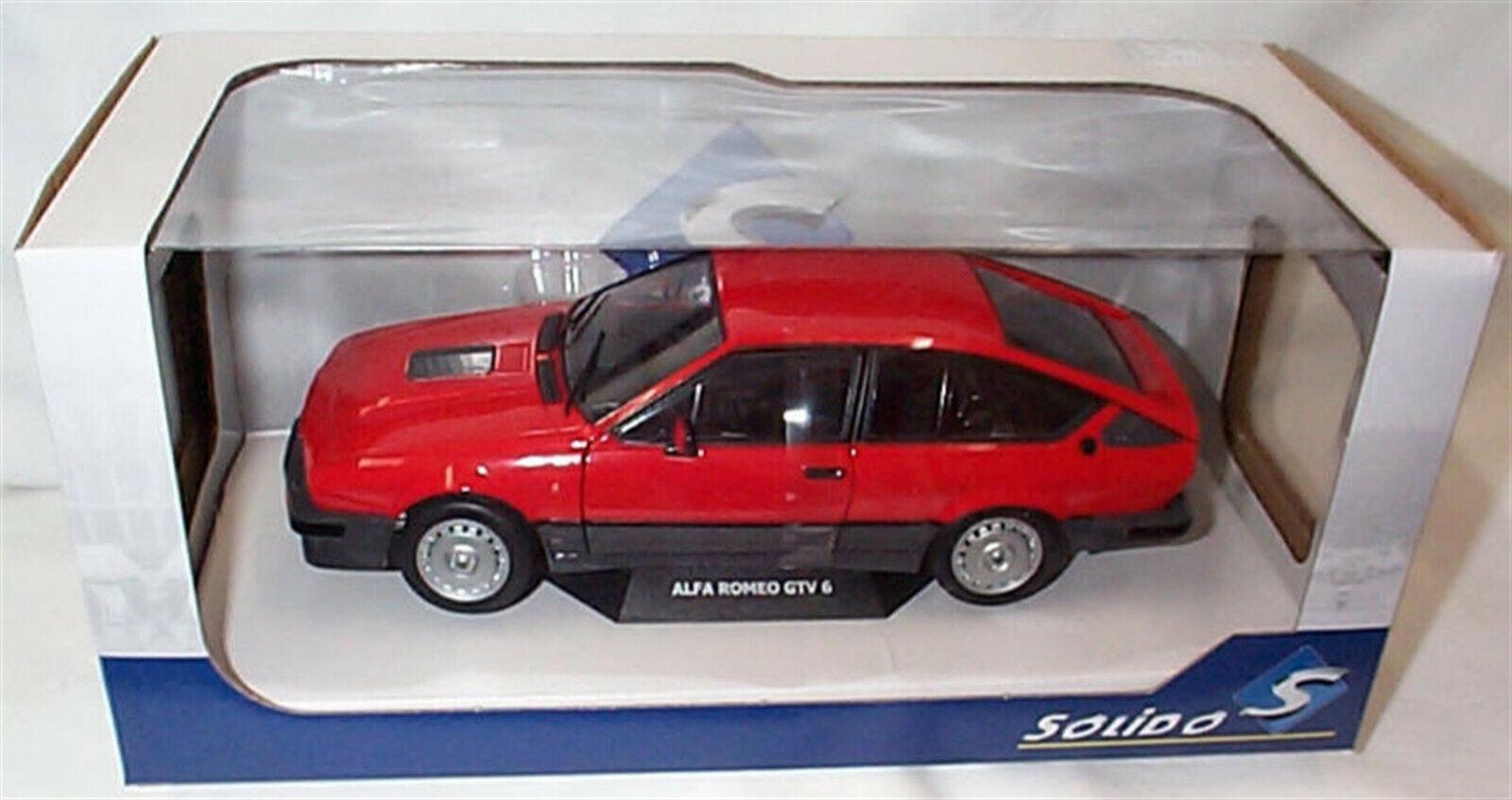 Alfa Romeo GTV 6 1984 in rot Opening Front Doors 1 18 - S1802301 SOLIDO