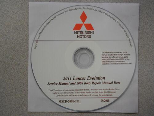 2011 2008 MITSUBISHI LANCER EVOLUTION Service Repair Manual CD FACTORY OEM 11 08