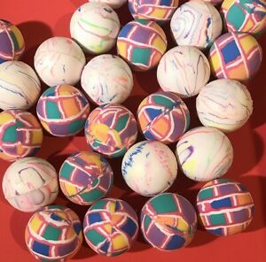 Lot-of-28-Rubber-Hi-Bounce-HIGH-Superballs-SUPER-Ball-classic-toy-assorted-NEW