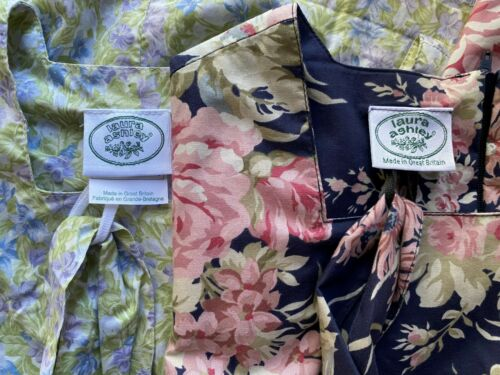 2 Vintage Laura Ashley Great Britain Cotton Belted