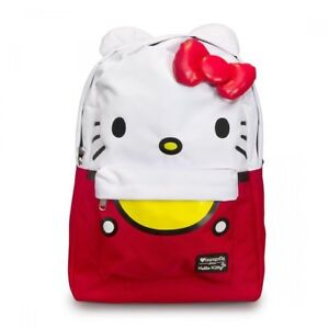 64c684418891 Backpack - Hello Kitty - Large Face Sanrio RED New 16