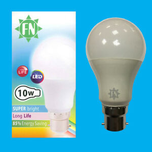 1x-10W-A60-GLS-BC-B22-6500K-Tageslicht-Weiss-frosted-LED-Gluehbirne-Lampe-110-265V