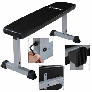Costway-Sit-Up-Bench-Flat-Crunch-Board-AB-Abdominal-Fitness-Weight-Exercise-New
