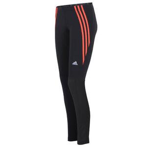 Details zu adidas Damen Questar 3 Streifen Long Tight ClimaLite Laufhose Running Hose lang