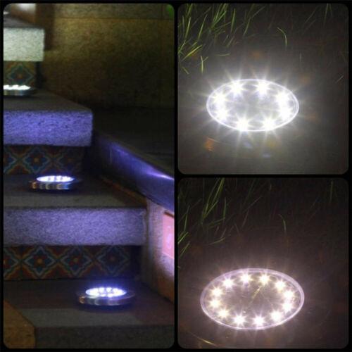 1//4//8PK 8 LED Solar Power Buried Light Under Ground Lamp Outdoor Way Garden Deck