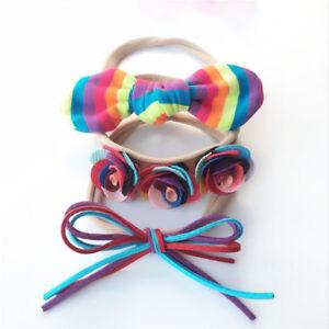 3Pcs Set Girls Baby Boutique Hairband Rope Bow Grosgrain Ribbon ... e9b6fcb989f