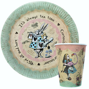Image is loading Vintage-Alice-in-Wonderland-Party-Mad-Hatters-Tea-  sc 1 st  eBay & Vintage Alice in Wonderland Party / Mad Hatters Tea Party Paper ...