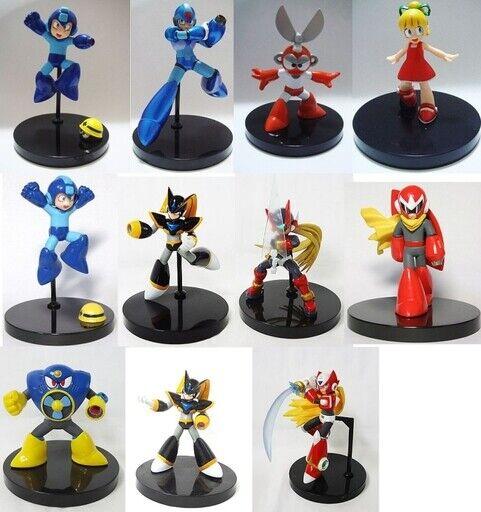 Bandai Chozokei Damashii Megaman Trading Figura Set Completo con secreto Nuevo En Caja