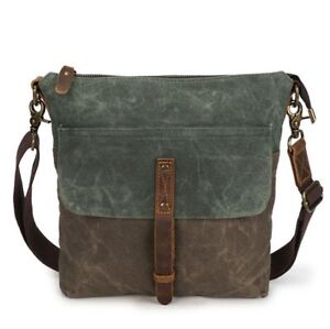 569116e56a New Waterproof Men s Oil Wax Canvas +Leather Shoulder Messenger Bag ...