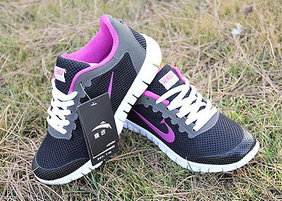 Fashion Women's Flat Sneaker Casual Breathable Running Sport Shoes UK Size 4.5-7