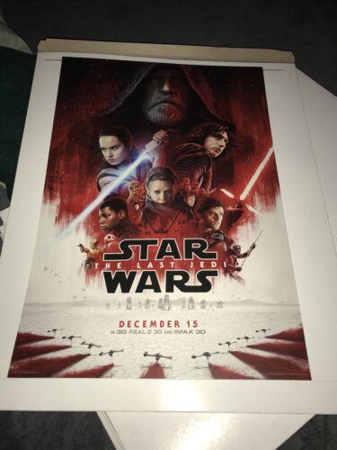 Star Wars The Last Jeti Exclusive Movie Poster!