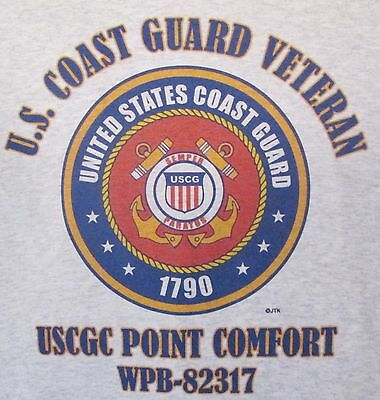 S POINT CLASS U SHIRT 82317 COAST GUARD POINT COMFORT USCGC WPB VETERAN EMBLEM qIO0RWx