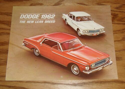 Original 1962 Dodge Dart /& Lancer Calendar Sales Brochure 62