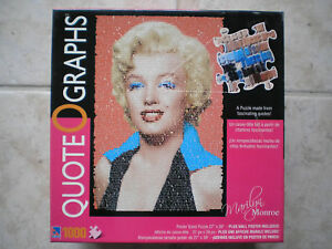Quote-O-Graphs-Marilyn-Monroe-puzzle-1000-pcs-New-in-Box
