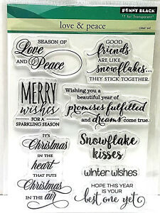 Penny Black Grateful Heart Clear Stamp Set 30-467 New!