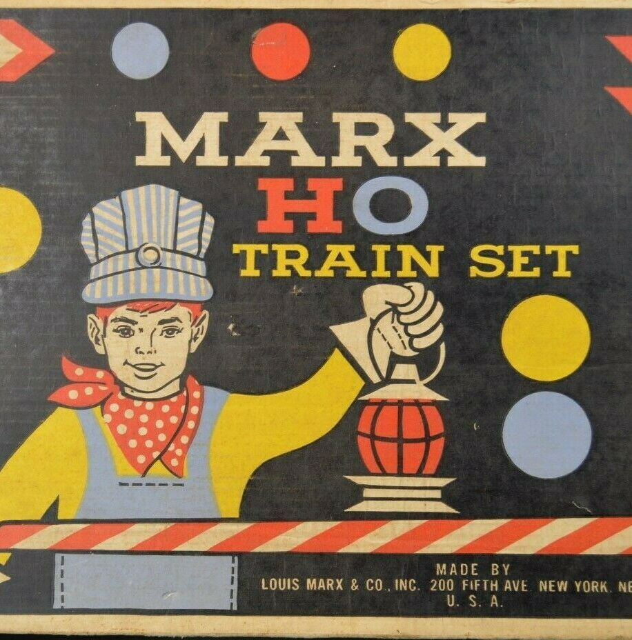 Marx Boxed Steam and Freight Set - Runs Well - In Original Box