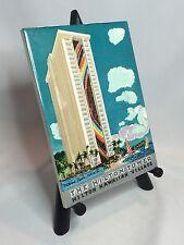 Millard Sheets Hilton Hawaiian Village Tower 1968 Souvenir Tile Waikiki Hawaii