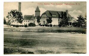 Ogdensburg-NY-TROLLEY-STATION-AT-STATE-HOSPITAL-Postcard-Insane-Asylum
