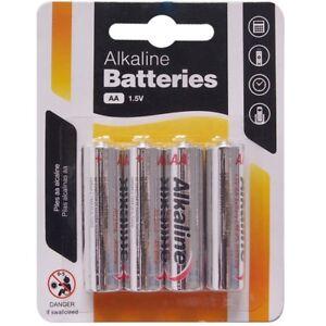 4 X Heavy Aa Alkaline Batteries 1 5v Heavy Duty Double A Camera Remote Control Ebay