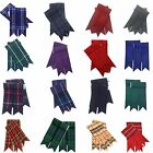 Scotish Mens Kilt Hose Sock Flashes Various Tartans