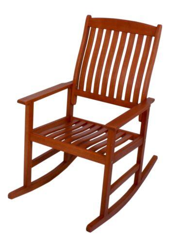 Fauteuil à bascule le bois d/'eucalyptus Balançoire Fauteuil Chaise de jardin Schwingsessel Chaise Longue