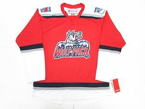 7e6152bd2 HARTFORD WOLF PACK AHL RED THIRD ALTERNATE CCM PREMIER 7185 HOCKEY ...