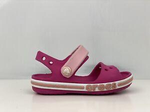 Crocs bayaband Girls Rosa Sandalo TAGLIA UK 7