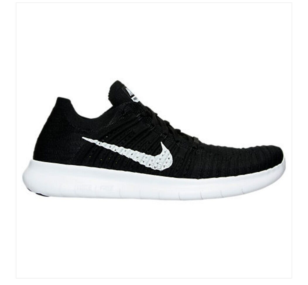 NEW Nike Free RN Flyknit Running Shoes Black White 831069-001 f1