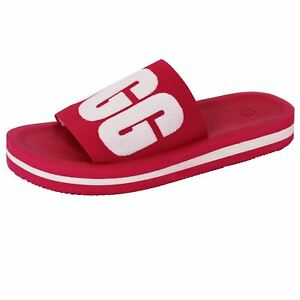 13e30f07a Image is loading UGG-SLIDES-ZUMA-GRAPHIC-SANDALS-WOMENS-SWEET-SANGRIA-