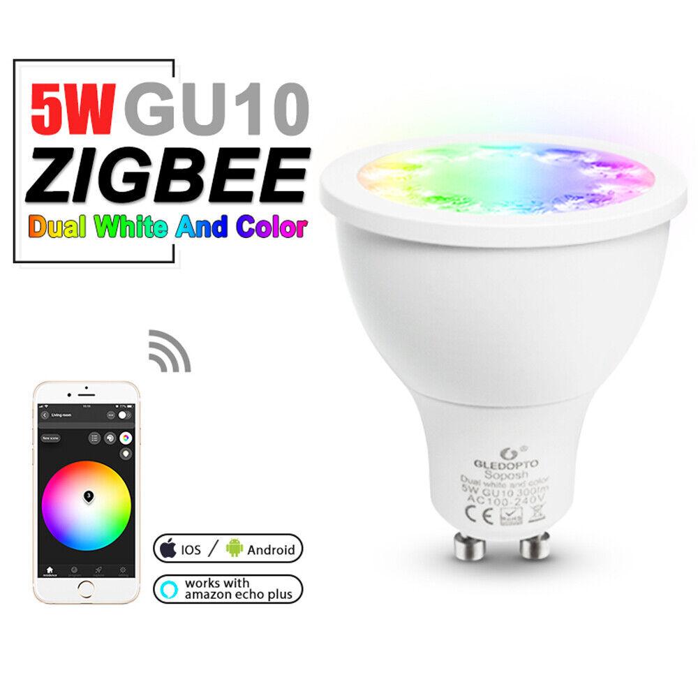 ZIGBEE 5W LED Leuchtmittel GU10 230V RGB Warmweiss Weiss Strahler Spot Lampe