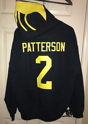 brand new a6f41 1d28f Michigan Wolverines Shea Patterson Jersey Style Hoodie Hoody ...