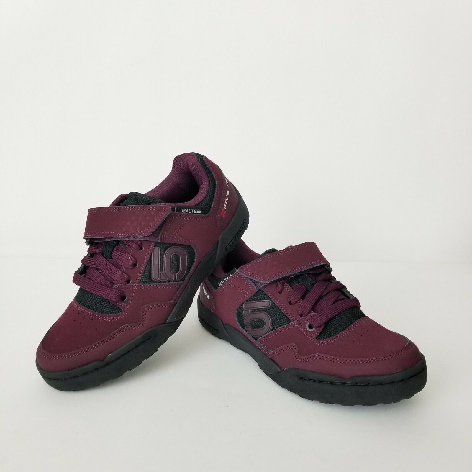 Five Ten Clipless Cycling Shoes Womens Size 6.5 Maroon Deep Purple