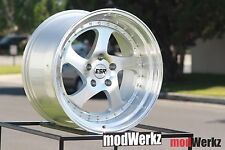 17x8.5 Inch +30 ESR SR02 5x100 Machined Silver Wheels Rims FRS BRZ WRX A3 SRT4