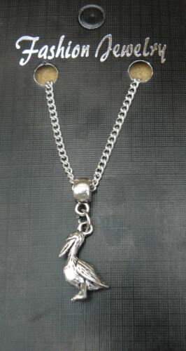 """18/"""" or 24 Inch Chain Necklace /& Pelican Pendant Charm Bird Lovers Gift"""