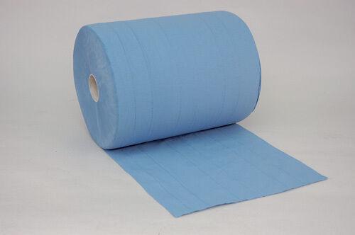 Putzrolle 3 lagig 38 x 36cm Papier-Rolle blau Putzpapier 500 Blatt
