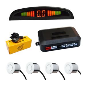 Car Parking  Reverse 4 Sensors Buzzer Radar LED Display Audio Alarm UK